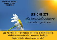 Un corso di Miracoli.: Lezione 279 del libro di esercizio. La libertà della creazione garantisce quella mia.
