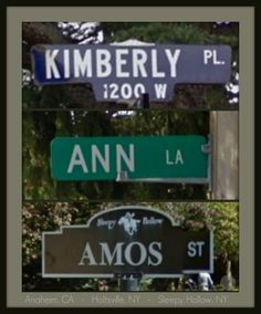 Google Maps Project: Personalized Street Name Collage | via Omg! ...I Could Soooo Make That!