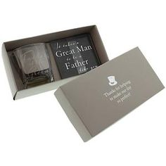 54a0888e5006e6 Amore Father of the Groom Whisky Glass   Coaster Set Wedding Thank You Gifts