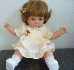 Vintage 1980s Zapf Doll 20 Inches with Original Clothes and Zapf Pin