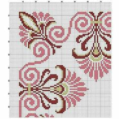Cross Stitch Borders, Cross Stitch Flowers, Cross Stitch Patterns, Cross Stitch Embroidery, Hand Embroidery, Art Nouveau Pattern, Pattern Drafting, Mason Jar Crafts, Needlework
