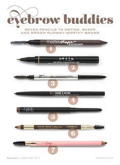 Eyebrow Buddies: 7 Pencils to Define, Shape and Groom Runway-Worthy Brows | Beautezine | Bloglovin'