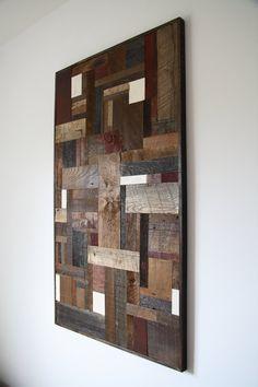 Reclaimed wood wall Art 443/4 x 271/4 x 11/4 by Carpentercraig, $390.00