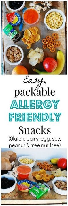Easy-to-find, store-bought allergy-friendly snacks. Free of the top allergens & portable too! List by AllergyAwesomeness.com |dairy-free snacks| gluten-free snacks| egg-free snacks| nut-free snacks| |peanut-free snacks| allergy-friendly| |allergy-friendly snacks| |snacks for kids| |snacks on the go| food-allergies|