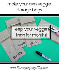 Keep your veggies fresh for months with this simple DIY veggie storage solution with brown paper bags!   veggies, vegetables, produce, fresh, keep from going bad, onions, shallots, garlic, etc!