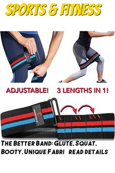 The Better Band: Glute, Squat, Booty, Unique Fabric Resistance Band, Adjustable 3-in-1, Non-Slip, Comfortable for Leg, Hip, Core, Pilates, Yoga, Therapy, Fitness & Workout (This is an affiliate pin) Core Pilates, Pilates Yoga, Exercise Bands, Glutes, Cool Bands, Squats, At Home Workouts, Therapy, Booty