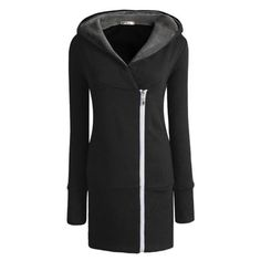 Uoften Women New Double Zips Long Sweatshirt Hoodie Jacket Coat Sweater Uoften http://www.amazon.com/dp/B00HH44UKI/ref=cm_sw_r_pi_dp_qYhtub1B16YZ2