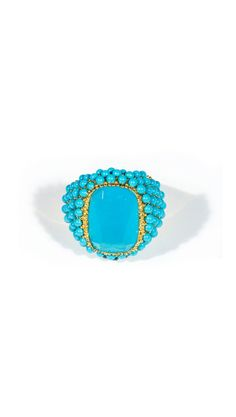 Beautiful Turquoise and Gold Ring (=) I Love Jewelry, High Jewelry, Stone Jewelry, Jewelry Rings, Jewelery, Jewelry Accessories, Jewelry Design, Unique Jewelry, Turquoise Rings