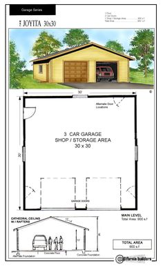 1000 images about house designs on pinterest floor for 30x30 garage kits