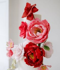Modern wedding cake design with beautiful and colourful sugar flowers. #peonies #luxuryweddingcakes #cakedesign Luxury Wedding Cake, Wedding Cakes, Wedding Cake Designs, Sugar Flowers, Peonies, Wedding Colors, Create, Rose, Modern