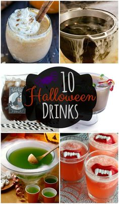 10 Halloween Drinks - Lots of awesome drink ideas for Halloween parties and get togethers!! { lilluna.com }