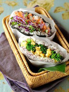 japanese rice sandwich.