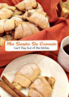Mini Pumpkin Pie Croissants | Can't Stay Out of the Kitchen | fabulous pumpkin rolls that begin with crescent rolls!