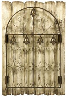 Metal Gate Wall Decor metal gate wall art | click to enlarge | gates | pinterest