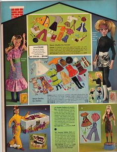 1971 Jewel Tea Catalog with Scooter Twists, and her Sister Debbie (maker unknown) and Uneeda Dollikin and Dancing Debbie