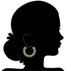 Hoop earring by Arpita Toor. Embrace Tradition. #fashion #earrings #hoops #wedding