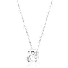 Initial A Crystal Pendant, Le Chic