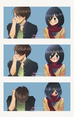 Attack On Titan Ships, Attack On Titan Anime, Anime Witch, Eren And Mikasa, Eremika, Titans Anime, I Love Anime, Kawaii Anime Girl, Shoujo
