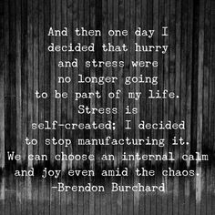 .let go of stress