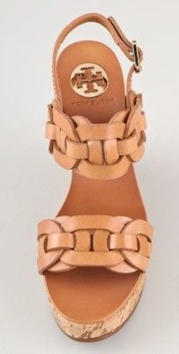 would sooo love to own a pair of these Tory Burch summer wedges one day! Cute Shoes, Me Too Shoes, Just Keep Walking, Summer Wedges, Crazy Shoes, Swagg, Wedge Sandals, Just In Case, Tory Burch