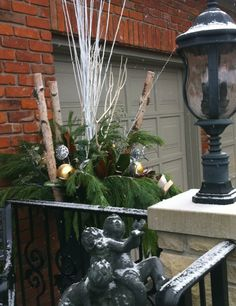Customized Christmas Urn Decor Christmas Urns, Garden Design, Plants, Outdoor, Decor, Outdoors, Decoration, Decorating, Flora