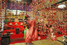 the Girls' Festival on March 3, hina doll and tsurushi bina