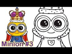 How to Draw Minion King Bob Cute Step by step - YouTube