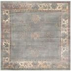 Vintage Gray/Multi 6 ft. x 6 ft. Square Area Rug