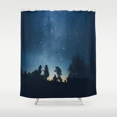 Buy Shower Curtains featuring Follow the stars by HappyMelvin. Made from 100% easy care polyester our designer shower curtains are printed in the USA and feature a 12 button-hole top for simple hanging.