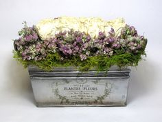 French Country, Dried Floral Arrangement, Contemporary Floral, Spring Arrangement, Dried Flower Arrangement,  French Country Floral. $42.00, via Etsy.