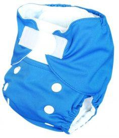Alva Baby Velcro Mazarine Solid Re-usable Newborn Baby Cloth Diapers