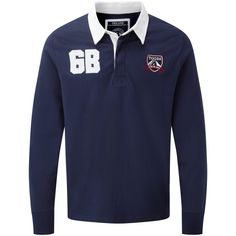 A stylish men's rugby shirt, the Thierry will be one of your favourites.  It features applique details on the chest, an embroidered chest badge, reinforced shoulders, a Cotton twill collar and chunky rib cuffs. The button placket also has a partially conc