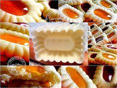 biscuits sables à la confiture {présentation à l'ancienne} Mini Desserts, Cookie Desserts, Moon Cake Mold, Biscotti Cookies, Italian Cookies, Baking Accessories, Healthy Pastas, Food Art, Baking Recipes