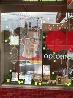 Vintage tennis Oga eyewear display by Through the looking glass retail window stylist, Melbourne
