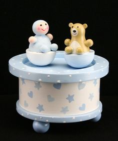 Take a look at this Baby Boy & Bear Wooden Music Box  by Gisela Graham on #zulily today!
