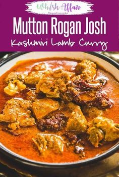 Mutton Rogan Josh Recipe is a Kashmiri style Lamb Curry made with spices like fennel and dry ginger. via Mutton Rogan Josh Recipe is a Kashmiri style Lamb Curry made with spices like fennel and dry ginger. Meat Recipes For Dinner, Easy Appetizer Recipes, Veg Recipes, Curry Recipes, Asian Recipes, Vegetarian Recipes, Cooking Recipes, Prawn Recipes, Easy Recipes