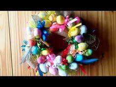 Jana Melas Pullmannová: Věneček z velikonočních vajíček Ornament Wreath, Ornaments, Hanukkah, Wreaths, Blog, Youtube, Home Decor, Scrappy Quilts, Decoration Home