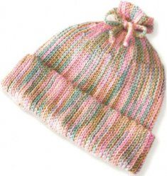 Looks just like knitting but it's crocheting