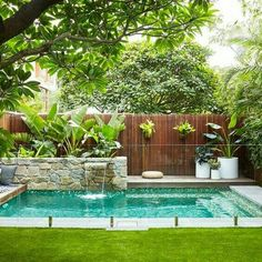 landscape design swimming pool garden landscaping ideas for small backyard pictures designs at the in large.landscape design swimming pool garden furniture glamorous designs with… Backyard Pool Designs, Small Backyard Gardens, Small Backyard Landscaping, Swimming Pool Designs, Backyard Patio, Outdoor Pool, Indoor Garden, Landscaping Ideas, Landscaping Software