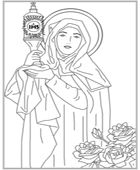 Saint kateri tekakwitha catholic coloring page feast day for St kateri coloring page