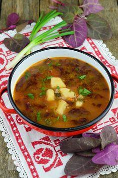 Bors de loboda - CAIETUL CU RETETE Romanian Food, Stevia, Chana Masala, Vegan Recipes, Deserts, Food And Drink, Soup, Homemade, Traditional
