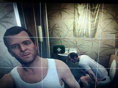 Bathroom selfie gone wrong