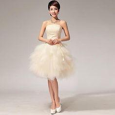 fundașii centrali rochie lungime genunchi fara bretele rochie de satin bal – EUR € 79.99