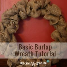 Here are my 5 steps to making a burlap wreath, with very detailed instructions. It's the most descriptive burlap wreath tutorial you'll find! Burlap Projects, Burlap Crafts, Wreath Crafts, Crafty Projects, Diy Wreath, Diy Projects To Try, Burlap Wreaths, Wreath Making, Fall Wreaths