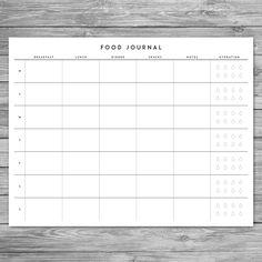 Printable Minimalist Food Journal Weekly Food Journal with Food Journal Printable, Meal Planner Printable, Printables, Diary Template, Journal Template, Checklist Template, Diet Planner, Weekly Meal Planner, 1200 Calorie Diet Plan