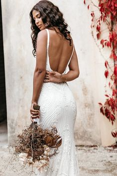 Untamed Heart | The Brand New Wedding Dress Collection from Lovers Society S Curves, Gowns, New Wedding Dresses, Square Necklines, Dress Collection, Bell Sleeves, Backless, Feminine, Lovers