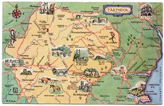 Travel and Trip infographic Travel infographic - Postcard map of Dartmoor Infographic Description Travel and Trip infographic Postcard map of Dartmoor United Kingdom Map, Explorer Map, Dartmoor National Park, National Parks Map, East Street, Devon And Cornwall, Picture Postcards, Travel Maps, Travel Destinations