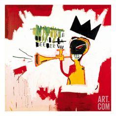 Art.fr - Impression giclée 'Trompette, 1984' par Jean-Michel Basquiat