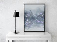 Instant Download Abstract Silver Painting - Art Print - Printable - Digital Prints - Abstract Art - Splatter Art - Watercolor Print - PDF