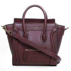 CELINE Brand Bag Top Handle Bags For Women 3309-Claret